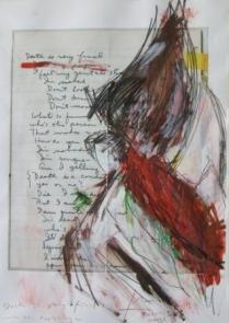 Seite 32 - Death is very final - with Ida Applebroog - Acryl, Kreide auf Reproduktion, 50x70cm, 2013