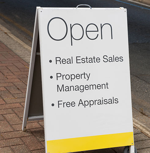 Real Estate Office Open Sandwich Board