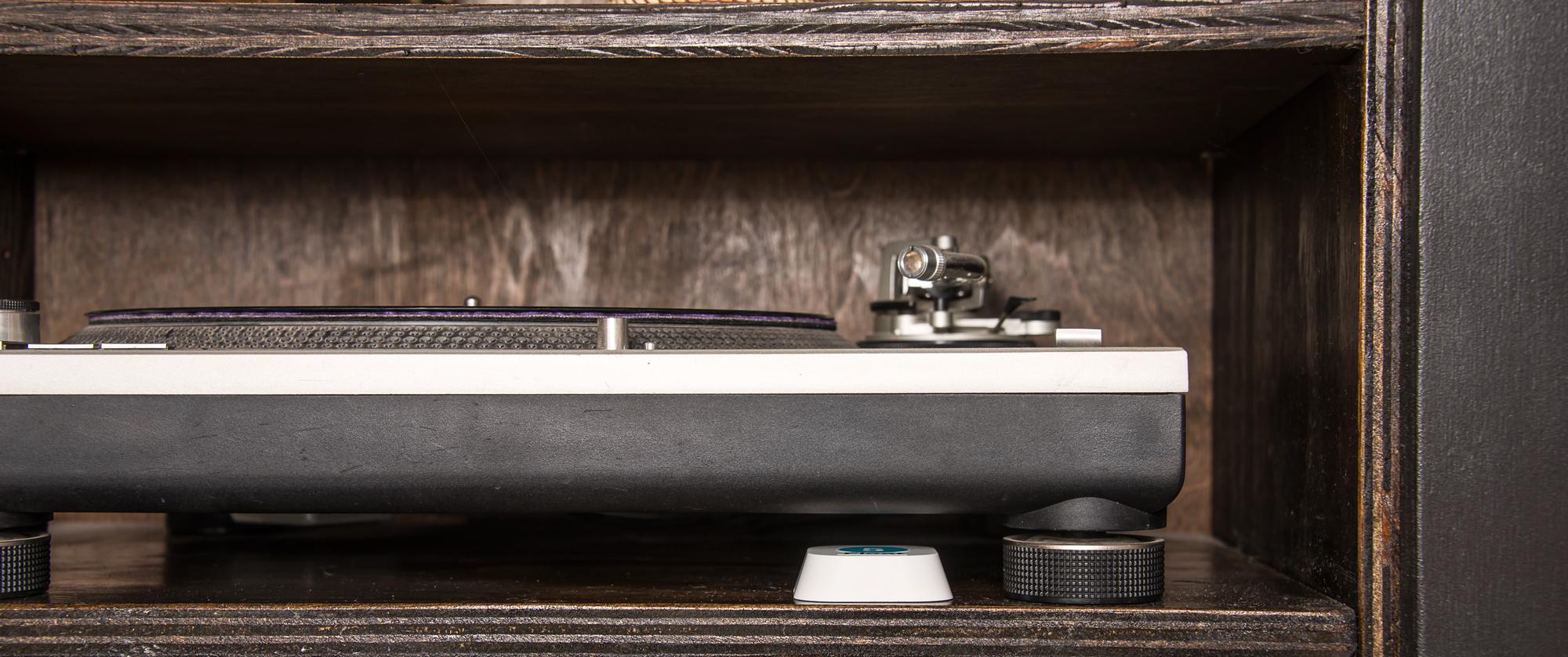 iBeacon hidden in entertainment cabinet