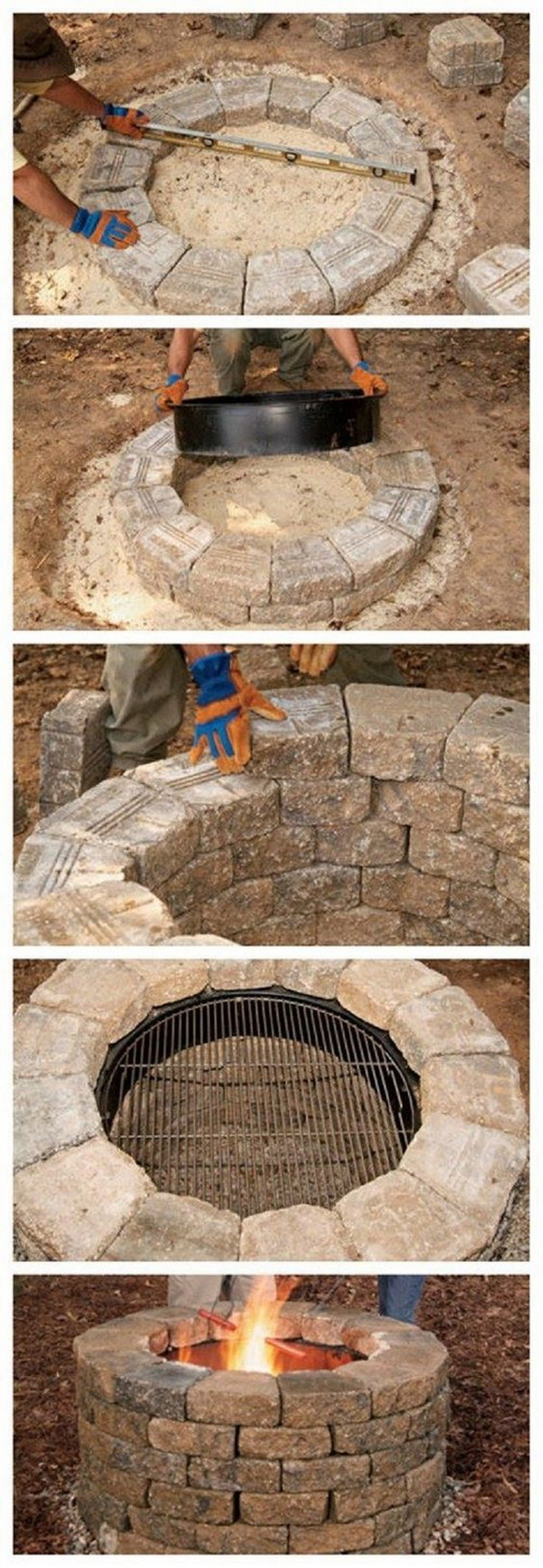 20 DIY Fire Pits for Your Backyard with Tutorials ... on Backyard Fire Pit Ideas Diy id=77681