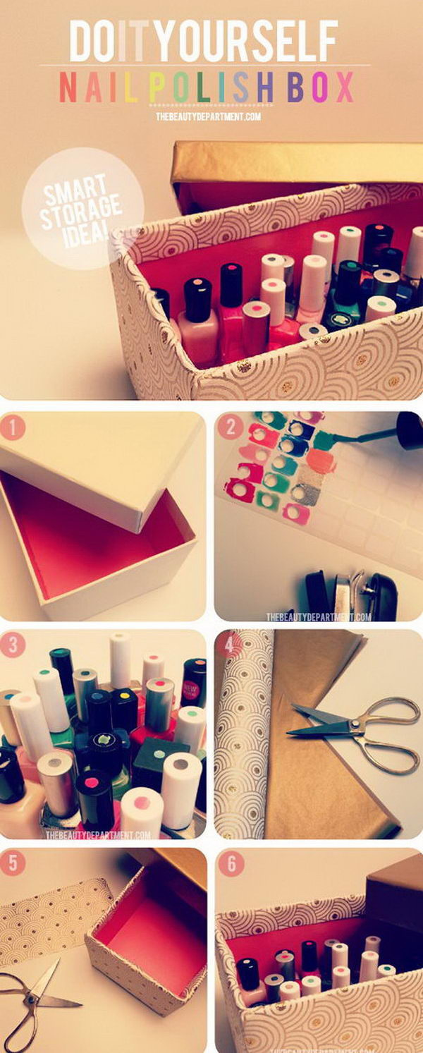 Smart Organizer For Nail Polishes Dress Up A Shoe Box By Anyway As You Like