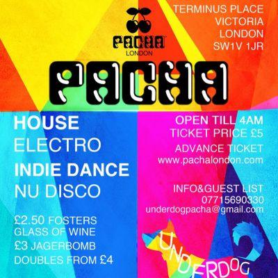 Underdog | Pacha London London | Lineups |  | Thu 1st November 2012
