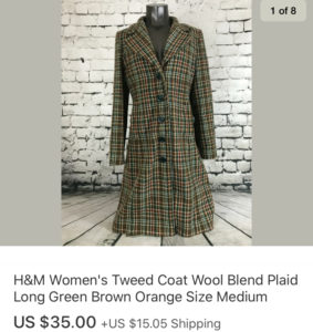 Top Sales February 2020 H&M Tweed Coat