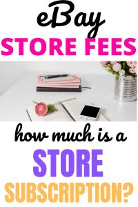 ebay store fees