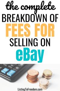 eBay Selling Fees