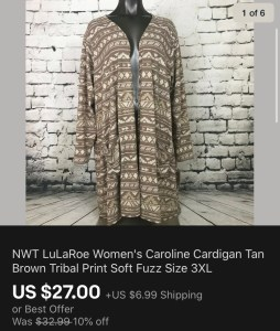 LuLaRoe Sold On eBay