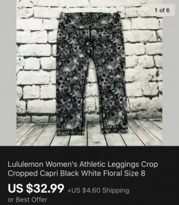 Lululemon Sold On eBay
