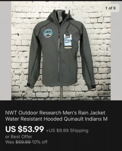 Outdoor Research Jacket Sold On eBay
