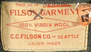 vintage filson clothing tag
