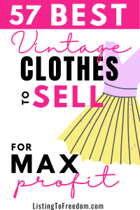 57 best vintage clothes to sell