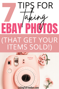 How To Take Photos For eBay