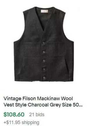 vintage clothes to sell: filson