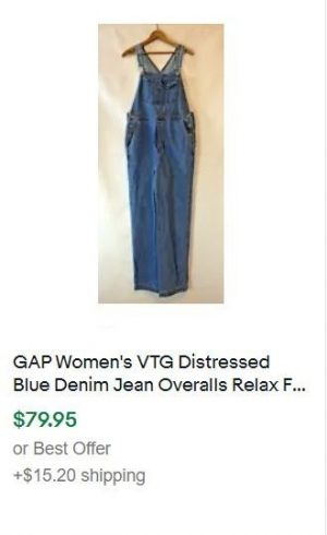 vintage clothes to sell - overalls