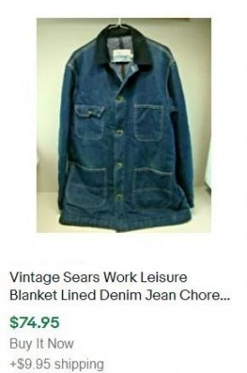 vintage clothes to sell: jean jacket