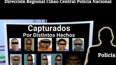 POLICÍA EN SANTIAGO PONE A 9 ANTISOCIALES A PASAR LAS NAVIDADES EN PRISIÓN EN LAS ÚLTIMAS HORAS POR DIFERENTES HECHOS.