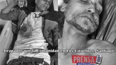 Comunidad de los Ciruelitos Santiago Atrapan dos supuestos delincuentes y casi lo linchan.