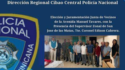 SUPERVISOR ZONAL DE SAN JOSÉ DE LAS MATAS PARTICIPA EN JURAMENTACIÓN DE JUNTA DE VECINOS.