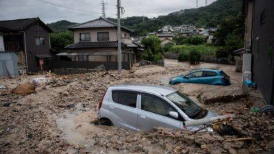Lluvias en Hiroshima han dejado hasta el momento 60 muertos.
