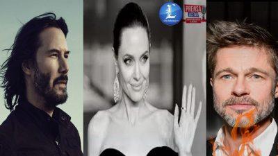 Angelina Jolie Sustituye el amor de  Brad Pitt por el de Keanu Reeves.