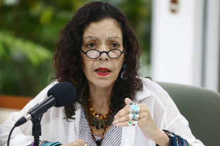 Vicepresidenta de Nicaragua reitera campaña Somocismo nunca más