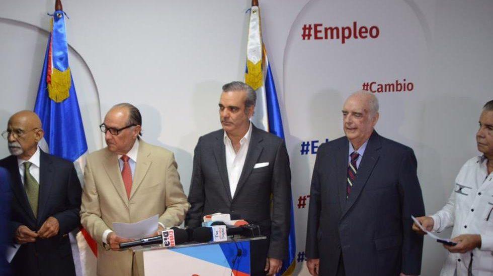 """Conciencia Nacional proclama respaldo a Luis Abinader """"para rescatar la esperanza perdida"""""""