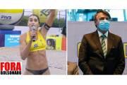 Voleibolista que gritó Fuera Bolsonaro en Brasil recibe amenazas