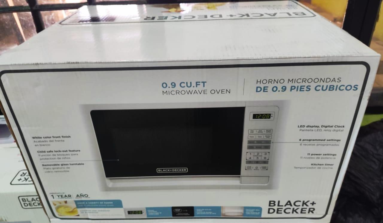 jtl s black decker 0 9 cu ft microwaves
