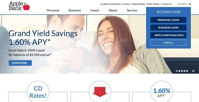 Apple Bank Homepage
