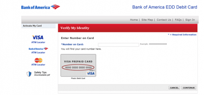 bank of america edd contact number