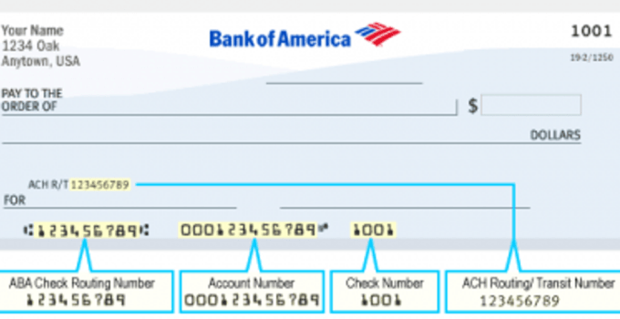 Bank of America check