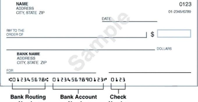 Sample Check Old National Bank