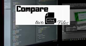 Compare html files