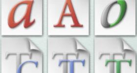 Font viewer software