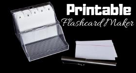 Printable flashcard maker