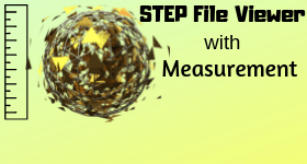 free STEP File viewer with measurement