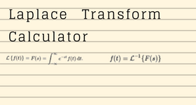 laplace transform calculator