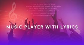 music player with lyrics