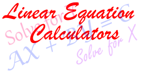 system-of-linear-equation-calculator