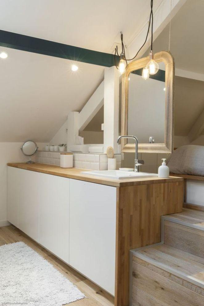 Idée Décoration Salle De Bain - Combles Aménagés : Une Chambre