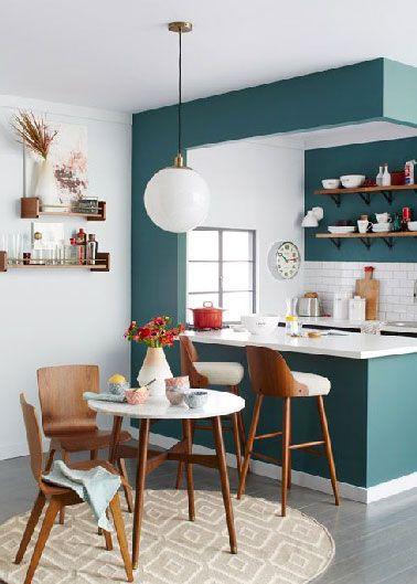 Idée relooking cuisine - Aménagement petite cuisine ouverte sur ...
