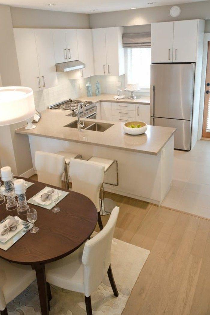 Id e relooking cuisine deco cuisine americaine en beige for Deco cuisine us