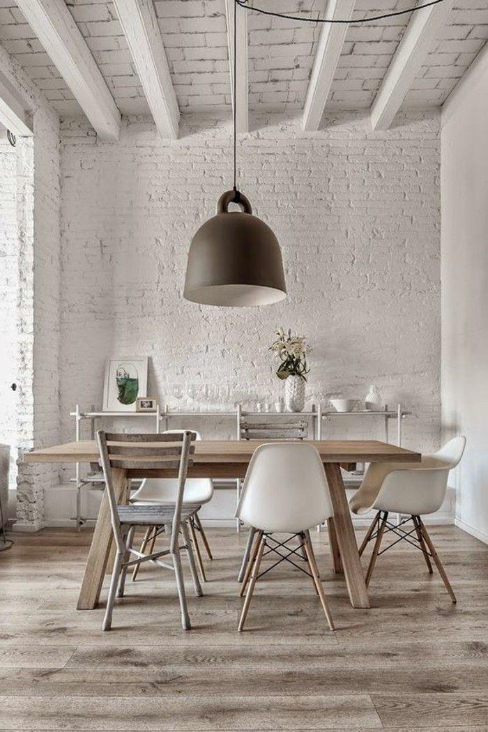 Salle manger table salle manger design retro chic avec chaises diff rentes listspirit - Table a manger avec chaises ...