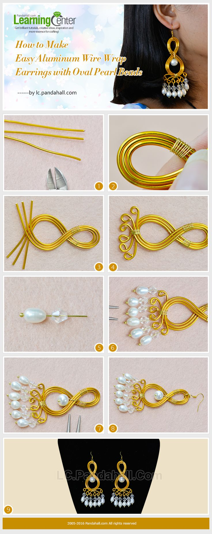 DIY Bijoux - How to Make Easy Aluminum Wire Wrap Earrings with Oval ...