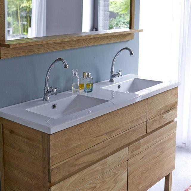 Id e d coration salle de bain meuble salle de bain en for Idee salle de bain bois