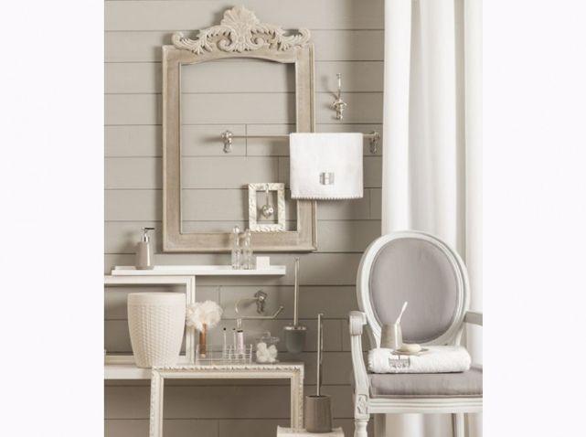 Idée décoration Salle de bain - Salle de bains romantique beige ...