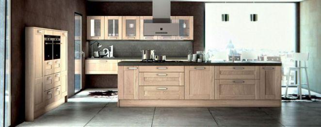 Id e relooking cuisine cuisine bois gris moderne for Cuisine bois gris moderne