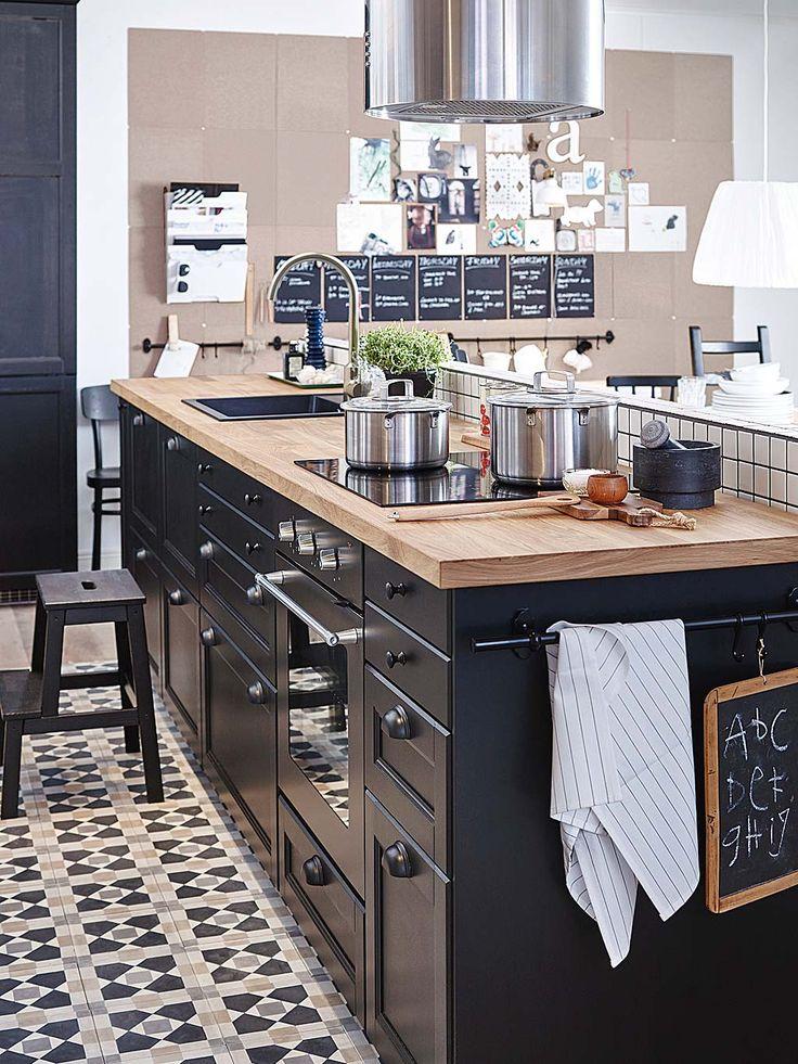 grande cuisine americaine interesting la cuisine offre de beaux espaces pour prparer des plats. Black Bedroom Furniture Sets. Home Design Ideas