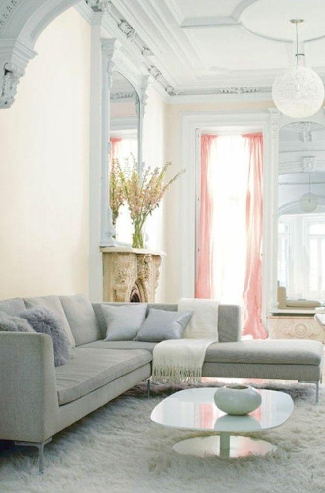 Déco Salon - joli salon avec canapé d\'angle pas cher de couleur ...