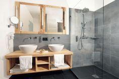 Idée décoration Salle de bain déco de salle de bain grise et