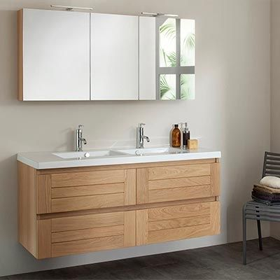Id e d coration salle de bain meuble salle de bain bois - Idee deco meuble bois ...